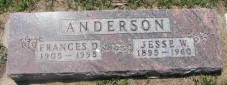 ANDERSON, JESSE W. - Cedar County, Nebraska | JESSE W. ANDERSON - Nebraska Gravestone Photos