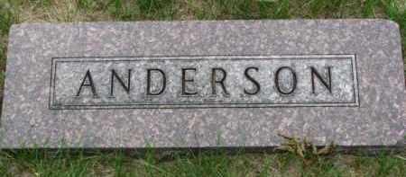 ANDERSON, FAMILY STONE - Cedar County, Nebraska | FAMILY STONE ANDERSON - Nebraska Gravestone Photos