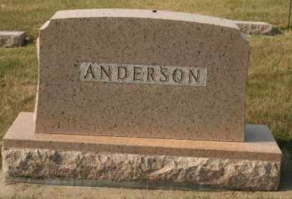 ANDERSON, FAMILY - Cedar County, Nebraska   FAMILY ANDERSON - Nebraska Gravestone Photos