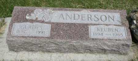 ANDERSON, GLADYS - Cedar County, Nebraska   GLADYS ANDERSON - Nebraska Gravestone Photos