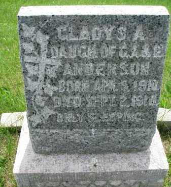 ANDERSON, GLADYS A. - Cedar County, Nebraska | GLADYS A. ANDERSON - Nebraska Gravestone Photos