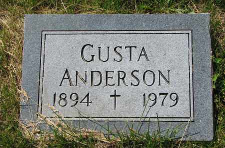 ANDERSON, GUSTA - Cedar County, Nebraska | GUSTA ANDERSON - Nebraska Gravestone Photos