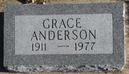 ANDERSON, GRACE - Cedar County, Nebraska | GRACE ANDERSON - Nebraska Gravestone Photos