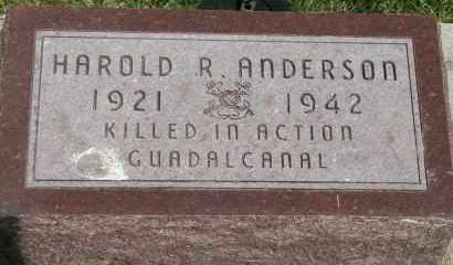 ANDERSON, HAROLD R - Cedar County, Nebraska   HAROLD R ANDERSON - Nebraska Gravestone Photos