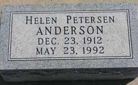 PETERSEN ANDERSON, HELEN - Cedar County, Nebraska | HELEN PETERSEN ANDERSON - Nebraska Gravestone Photos