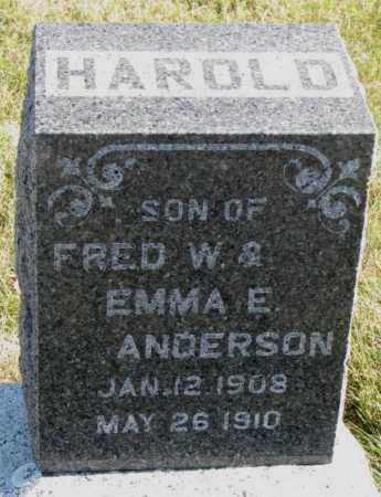 ANDERSON, HAROLD - Cedar County, Nebraska | HAROLD ANDERSON - Nebraska Gravestone Photos