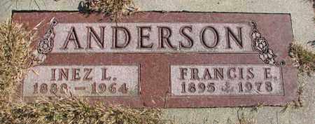 ANDERSON, INEZ L. - Cedar County, Nebraska | INEZ L. ANDERSON - Nebraska Gravestone Photos