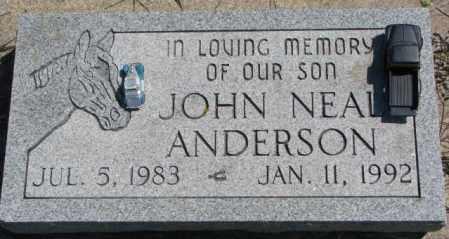 ANDERSON, JOHN NEAL - Cedar County, Nebraska | JOHN NEAL ANDERSON - Nebraska Gravestone Photos