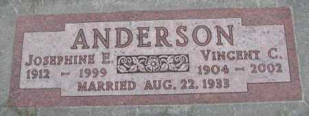 ANDERSON, JOSEPHINE E. - Cedar County, Nebraska | JOSEPHINE E. ANDERSON - Nebraska Gravestone Photos