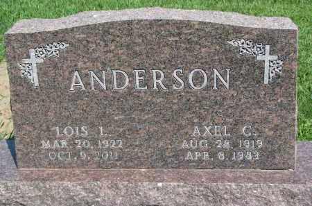 ANDERSON, LOIS L. - Cedar County, Nebraska | LOIS L. ANDERSON - Nebraska Gravestone Photos
