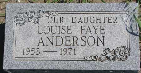 ANDERSON, LOUISE FAYE - Cedar County, Nebraska   LOUISE FAYE ANDERSON - Nebraska Gravestone Photos