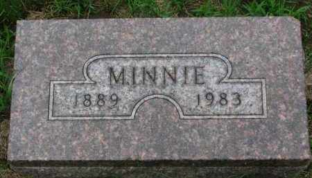 ANDERSON, MINNIE - Cedar County, Nebraska | MINNIE ANDERSON - Nebraska Gravestone Photos