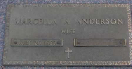 ANDERSON, MARCELLA A. - Cedar County, Nebraska   MARCELLA A. ANDERSON - Nebraska Gravestone Photos