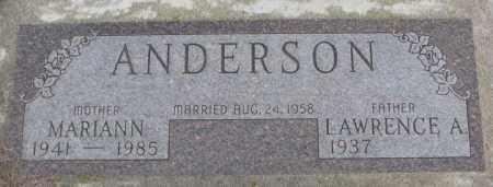 ANDERSON, MARIANN - Cedar County, Nebraska | MARIANN ANDERSON - Nebraska Gravestone Photos