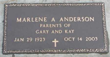 ANDERSON, MARLENE A. - Cedar County, Nebraska   MARLENE A. ANDERSON - Nebraska Gravestone Photos