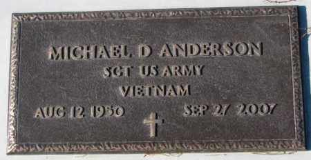ANDERSON, MICHAEL D. (VIETNAM) - Cedar County, Nebraska | MICHAEL D. (VIETNAM) ANDERSON - Nebraska Gravestone Photos