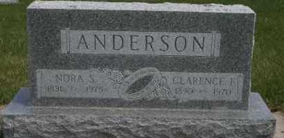 ANDERSON, CLARENCE F - Cedar County, Nebraska   CLARENCE F ANDERSON - Nebraska Gravestone Photos