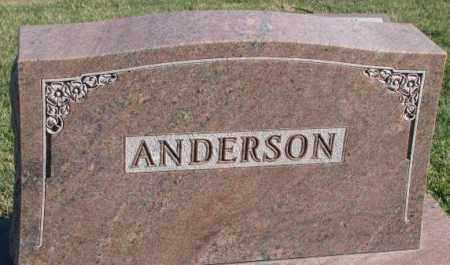 ANDERSON, PLOT - Cedar County, Nebraska | PLOT ANDERSON - Nebraska Gravestone Photos