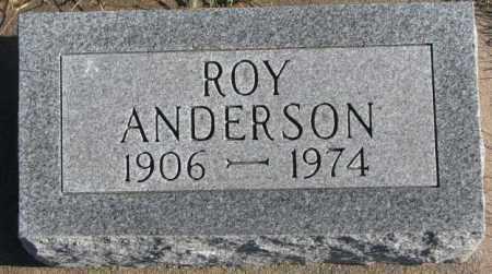 ANDERSON, ROY - Cedar County, Nebraska | ROY ANDERSON - Nebraska Gravestone Photos