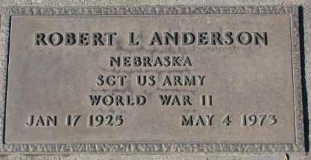 ANDERSON, ROBERT L. (WW II) - Cedar County, Nebraska   ROBERT L. (WW II) ANDERSON - Nebraska Gravestone Photos