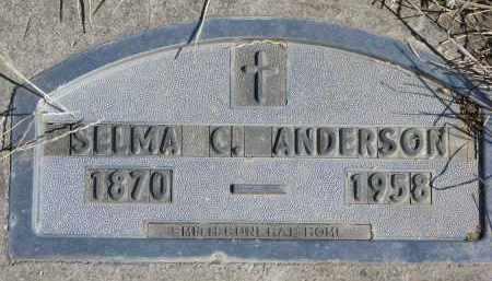 ANDERSON, SELMA C. - Cedar County, Nebraska | SELMA C. ANDERSON - Nebraska Gravestone Photos