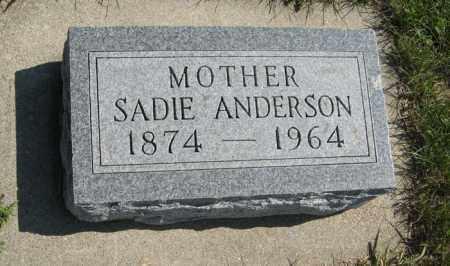 ANDERSON, SADIE - Cedar County, Nebraska   SADIE ANDERSON - Nebraska Gravestone Photos