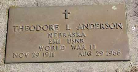 ANDERSON, THEODORE L. (WW II) - Cedar County, Nebraska | THEODORE L. (WW II) ANDERSON - Nebraska Gravestone Photos