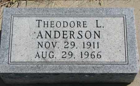 ANDERSON, THEODORE L. - Cedar County, Nebraska | THEODORE L. ANDERSON - Nebraska Gravestone Photos