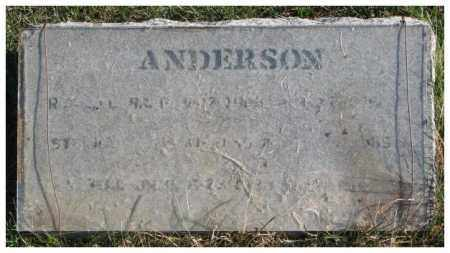 ANDERSON, UNKNOWN - Cedar County, Nebraska | UNKNOWN ANDERSON - Nebraska Gravestone Photos