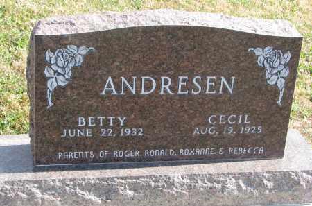 ANDRESEN, CECIL - Cedar County, Nebraska | CECIL ANDRESEN - Nebraska Gravestone Photos