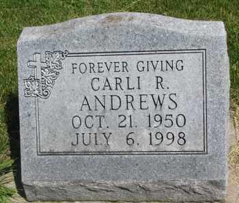 ANDREWS, CARLI R. - Cedar County, Nebraska | CARLI R. ANDREWS - Nebraska Gravestone Photos