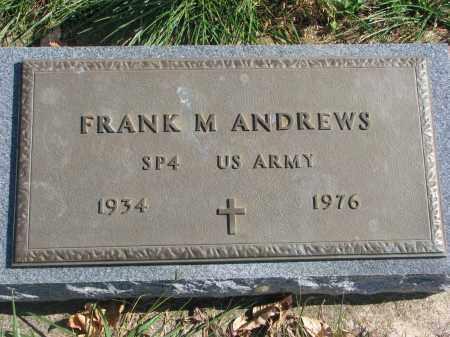 ANDREWS, FRANK M. - Cedar County, Nebraska | FRANK M. ANDREWS - Nebraska Gravestone Photos