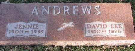 ANDREWS, JENNIE - Cedar County, Nebraska | JENNIE ANDREWS - Nebraska Gravestone Photos