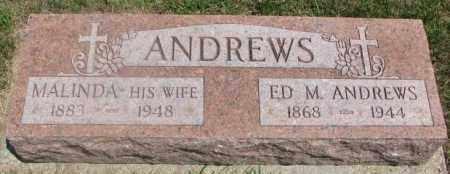 ANDREWS, ED M. - Cedar County, Nebraska | ED M. ANDREWS - Nebraska Gravestone Photos