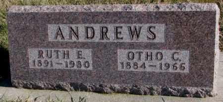 ANDREWS, RUTH E. - Cedar County, Nebraska | RUTH E. ANDREWS - Nebraska Gravestone Photos