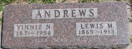 ANDREWS, LEWIS M. - Cedar County, Nebraska | LEWIS M. ANDREWS - Nebraska Gravestone Photos