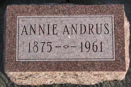 ANDRUS, ANNIE - Cedar County, Nebraska | ANNIE ANDRUS - Nebraska Gravestone Photos