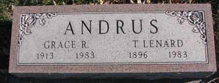 ANDRUS, T. LENARD - Cedar County, Nebraska | T. LENARD ANDRUS - Nebraska Gravestone Photos