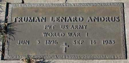 ANDRUS, TRUMAN LENARD (WW I MARKER) - Cedar County, Nebraska | TRUMAN LENARD (WW I MARKER) ANDRUS - Nebraska Gravestone Photos