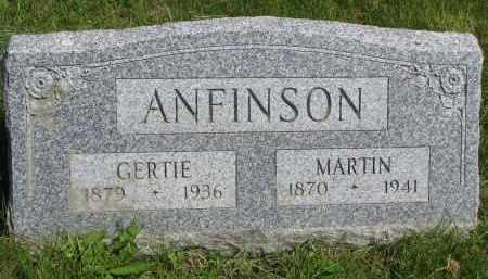 ANFINSON, GERTIE - Cedar County, Nebraska | GERTIE ANFINSON - Nebraska Gravestone Photos