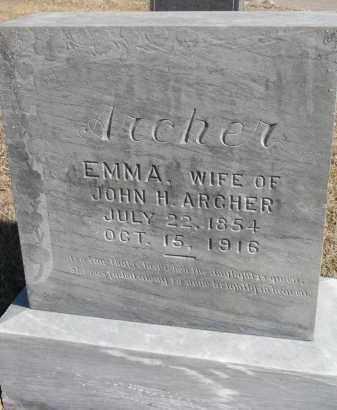 ARCHER, EMMA - Cedar County, Nebraska   EMMA ARCHER - Nebraska Gravestone Photos