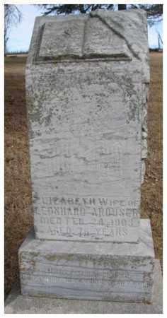 ARDUSER, ELIZABETH - Cedar County, Nebraska | ELIZABETH ARDUSER - Nebraska Gravestone Photos