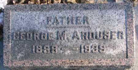 ARDUSER, GEORGE M. - Cedar County, Nebraska | GEORGE M. ARDUSER - Nebraska Gravestone Photos