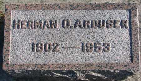 ARDUSER, HERMAN O. - Cedar County, Nebraska | HERMAN O. ARDUSER - Nebraska Gravestone Photos