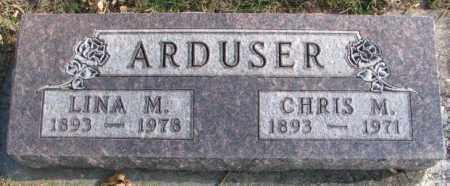 ARDUSER, CHRIS M. - Cedar County, Nebraska | CHRIS M. ARDUSER - Nebraska Gravestone Photos