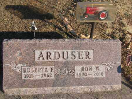 ARDUSER, DON W. - Cedar County, Nebraska   DON W. ARDUSER - Nebraska Gravestone Photos