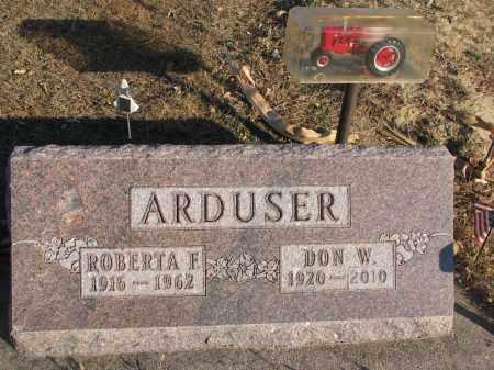 ARDUSER, DON W. - Cedar County, Nebraska | DON W. ARDUSER - Nebraska Gravestone Photos