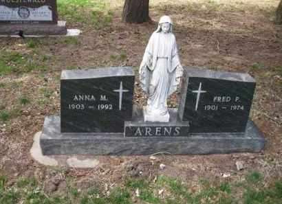 ARENS, ANNA M. - Cedar County, Nebraska   ANNA M. ARENS - Nebraska Gravestone Photos