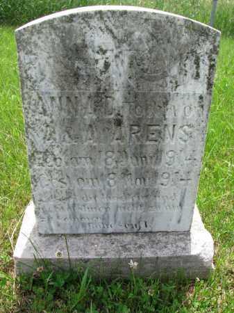 ARENS, ANNA D. - Cedar County, Nebraska   ANNA D. ARENS - Nebraska Gravestone Photos
