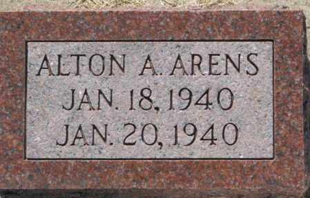 ARENS, ALTON A. - Cedar County, Nebraska | ALTON A. ARENS - Nebraska Gravestone Photos